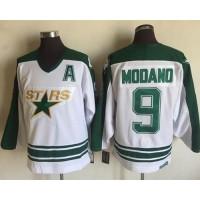 Dallas Stars #9 Mike Modano White CCM Throwback Stitched NHL Jersey