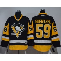Pittsburgh Penguins #59 Jake Guentzel Black Alternate Stitched NHL Jersey