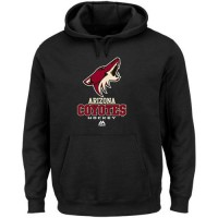 Arizona Coyotes Majestic Critical Victory VIII Fleece Hoodie Black