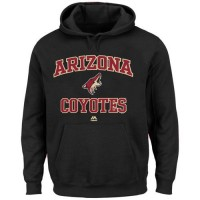 Arizona Coyotes Majestic Heart & Soul Hoodie Black