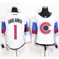 Avalanche #1 Semyon Varlamov White 2016 Stadium Series Stitched NHL Jersey