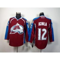 Avalanche #12 Jarome Iginla Red Home Stitched NHL Jersey