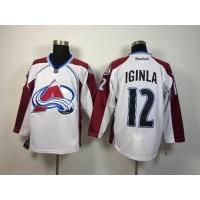 Avalanche #12 Jarome Iginla White Stitched NHL Jersey