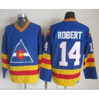 Avalanche #14 Rene Robert Blue CCM Throwback Stitched NHL Jersey