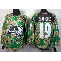 Avalanche #19 Joe Sakic Camo Veterans Day Practice Stitched NHL Jersey