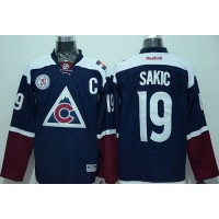Avalanche #19 Joe Sakic Navy Blue Alternate Stitched NHL Jersey