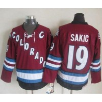 Avalanche #19 Joe Sakic Red CCM Throwback Stitched NHL Jersey
