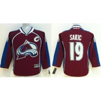 Avalanche #19 Joe Sakic Red Stitched Youth NHL Jersey