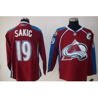 Avalanche #19 Joe Sakic Stitched Red NHL Jersey