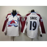 Avalanche #19 Joe Sakic White Stitched NHL Jersey
