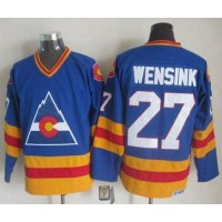 Avalanche #27 John Wensink Blue CCM Throwback Stitched NHL Jersey