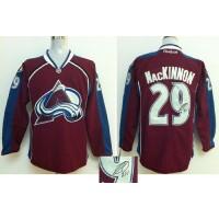 Avalanche #29 Nathan MacKinnon Red Autographed Stitched NHL Jersey