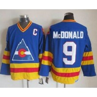 Avalanche #9 Lanny Mcdonald Blue CCM Throwback Stitched NHL Jersey