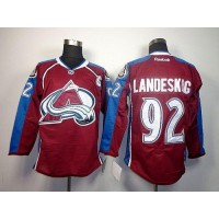 Avalanche #92 Gabriel Landeskog Red Home Stitched NHL Jersey
