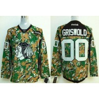 Blackhawks #00 Clark Griswold Camo Veterans Day Practice Stitched NHL Jersey