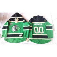 Blackhawks #00 Clark Griswold Green St. Patrick's Day McNary Lace Hoodie Stitched NHL Jersey