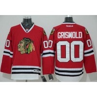 Blackhawks #00 Clark Griswold Red Home Stitched NHL Jersey