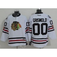 Blackhawks #00 Clark Griswold White 2015 Winter Classic Stitched NHL Jersey