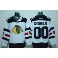 Blackhawks #00 Clark Griswold White 2016 Stadium Series Stitched NHL Jersey