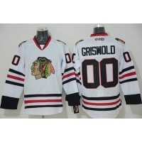 Blackhawks #00 Clark Griswold White CCM Throwback Stitched NHL Jersey