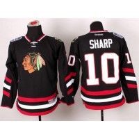 Blackhawks #10 Patrick Sharp Black 2014 Stadium Series Stitched Youth NHL Jersey
