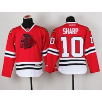 Blackhawks #10 Patrick Sharp Red(Red Skull) Stitched Youth NHL Jersey