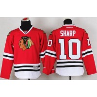 Blackhawks #10 Patrick Sharp Red Stitched Youth NHL Jersey