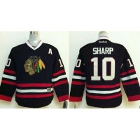 Blackhawks #10 Patrick Sharp Stitched Black Youth NHL Jersey