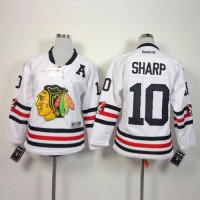 Blackhawks #10 Patrick Sharp White 2015 Winter Classic Stitched Youth NHL Jersey