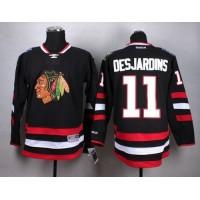 Blackhawks #11 Andrew Desjardins Black Stitched NHL Jersey