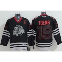 Blackhawks #19 Jonathan Toews Black Ice Stitched NHL Jersey