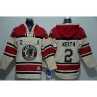 Blackhawks #2 Duncan Keith Cream Sawyer Hooded Sweatshirt Stitched NHL Jersey