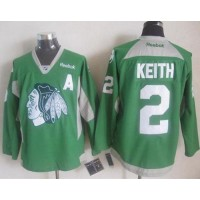 Blackhawks #2 Duncan Keith Green Practice Stitched NHL Jersey