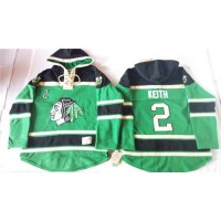 Blackhawks #2 Duncan Keith Green St. Patrick's Day McNary Lace Hoodie Stitched NHL Jersey