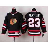 Blackhawks #23 Kris Versteeg Black 2014 Stadium Series Stitched NHL Jersey