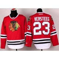 Blackhawks #23 Kris Versteeg Red Stitched NHL Jersey