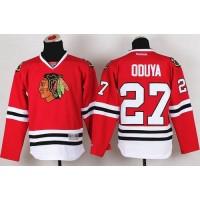 Blackhawks #27 Johnny Oduya Red Stitched Youth NHL Jersey