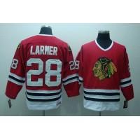 Blackhawks #28 Steve Larmer Stitched Red CCM Throwback NHL Jersey
