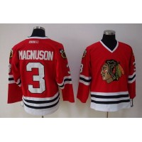 Blackhawks #3 Keith Magnuson Stitched Red NHL Jersey
