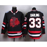 Blackhawks #33 Scott Darling Black(Red Skull) Stitched NHL Jersey