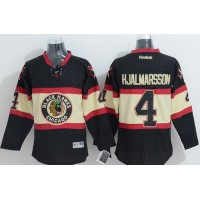 Blackhawks #4 Niklas Hjalmarsson Black New Third Stitched NHL Jersey