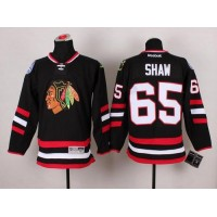 Blackhawks #65 Andrew Shaw Black 2014 Stadium Series Stitched NHL Jersey