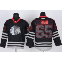 Blackhawks #65 Andrew Shaw Black Ice Stitched NHL Jersey