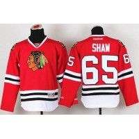 Blackhawks #65 Andrew Shaw Red Stitched Youth NHL Jersey