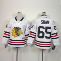 Blackhawks #65 Andrew Shaw White 2015 Winter Classic Stitched Youth NHL Jersey