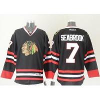 Blackhawks #7 Brent Seabrook Black Stitched NHL Jersey