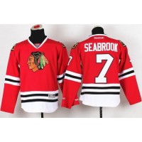 Blackhawks #7 Brent Seabrook Red Stitched Youth NHL Jersey