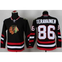 Blackhawks #86 Teuvo Teravainen Black 2014 Stadium Series Stitched Youth NHL Jersey