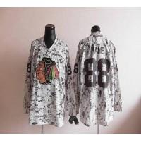 Blackhawks #88 Patrick Kane Camouflage Stitched NHL Jersey