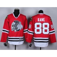 Blackhawks #88 Patrick Kane Red(White Skull) Stitched NHL Jersey